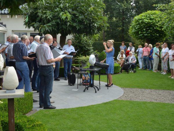 GMK zingt tijdens de open Atelier Route in Grubbenvorst 2016
